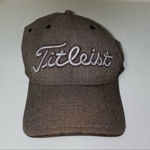 Titleist Brown Plaid Adjustable fit golf cap